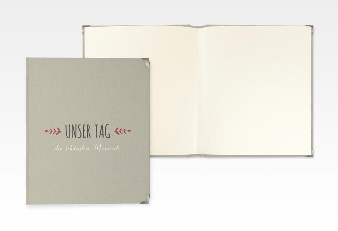 """Hochzeitsalbum """"Eden"""" 21 x 25 cm rot"""