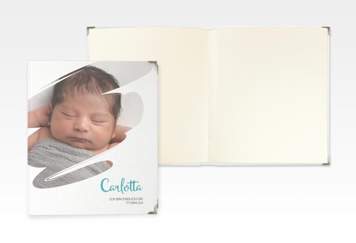 "Baby Fotoalbum ""Wunder"" 21 x 25 cm tuerkis"