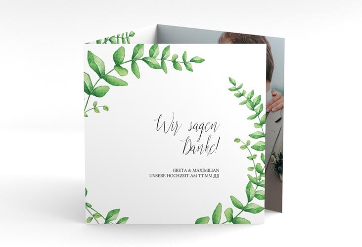 "Dankeskarte Hochzeit ""Botanic"" Quadr. Karte doppelt"