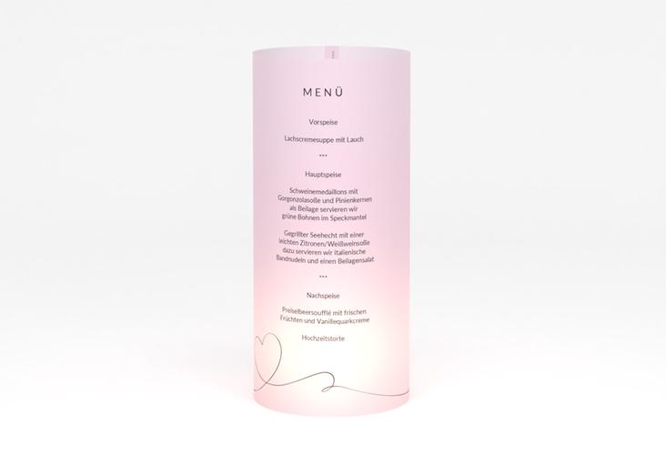 """Windlicht Menü Hochzeit """"Dolce"""" Windlicht rosa"""