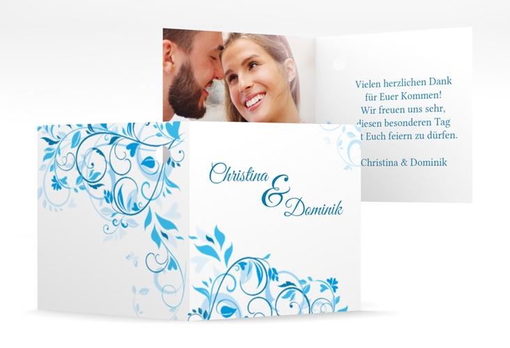"""Geschenkanhänger Hochzeit """"Lilly"""" Geschenkanhänger 10er Set blau"""