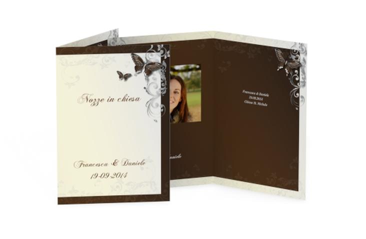 Libro messa matrimonio collezione Tolosa DIN A5 geklappt marrone