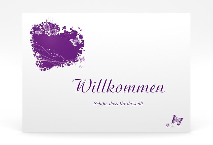 "Willkommensschild Poster ""Mailand"" 70 x 50 cm Poster lila"