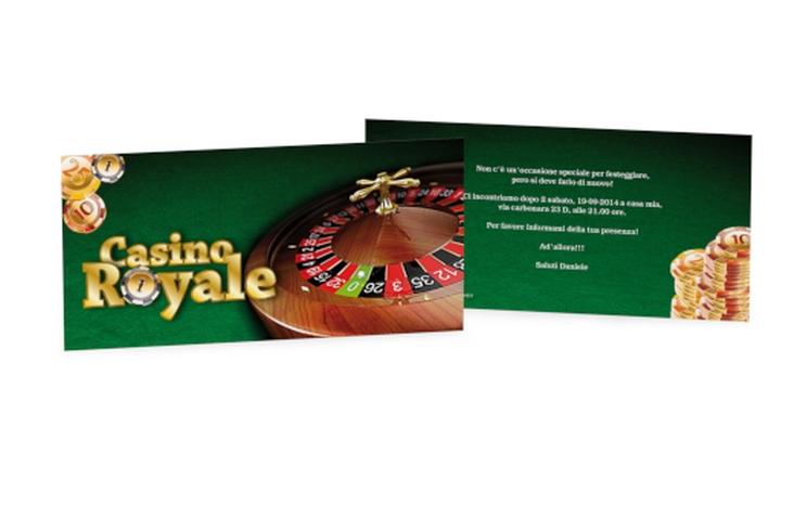 Biglietti di invito Casino Royale DIN lang