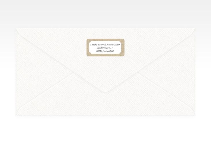"""Absenderetikett Hochzeit """"Lace"""" 45,7 x 21,2 mm beige"""