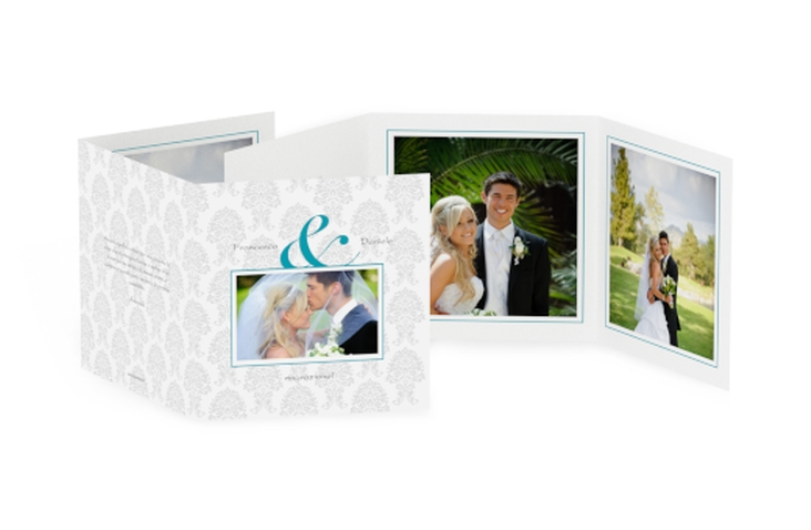 Ringraziamenti matrimonio collezione Nantes Quadr. Karte doppelt azzuro