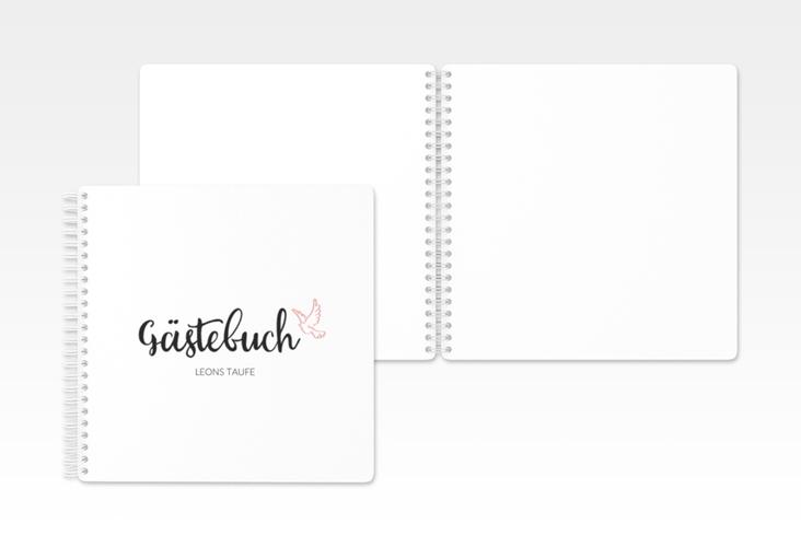"Gästebuch Taufe ""Belief"""" Ringbindung rosa"