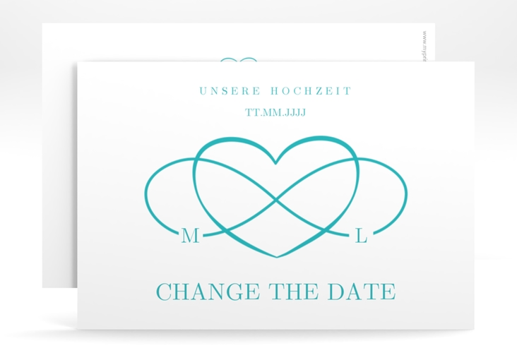 """Change the Date-Karte """"Infinity"""" A6 quer tuerkis"""