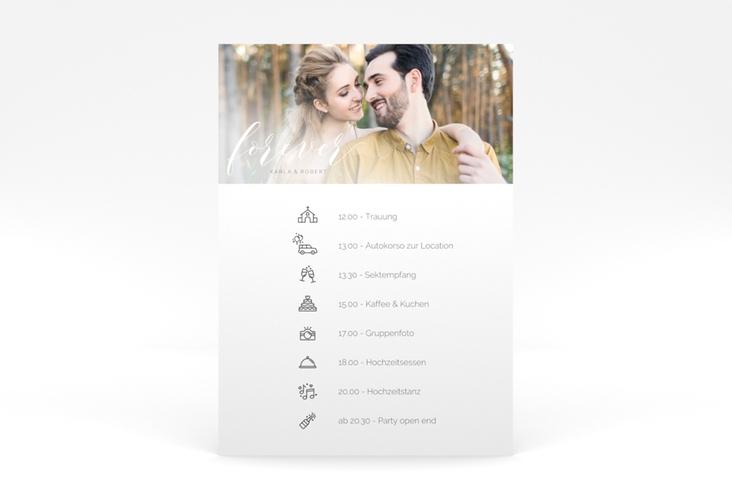 """Tagesablauf Poster Hochzeit """"Promise"""" 50 x 70 cm Poster weiss"""