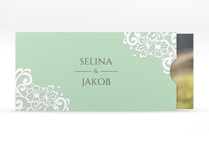 """Hochzeitseinladung """"Vintage"""" Einsteckkarte mint"""