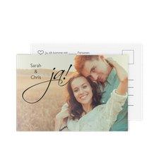 """Antwortkarte Hochzeit """"Clarity"""""""