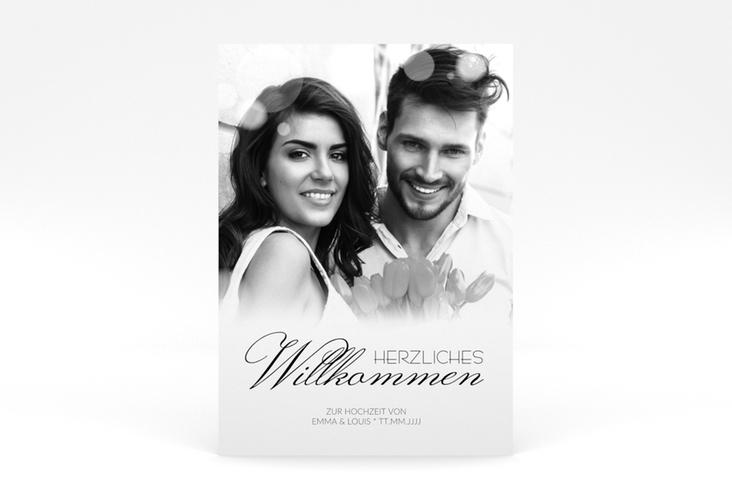 """Willkommensschild Poster """"Bokeh"""" 50 x 70 cm Poster weiss"""