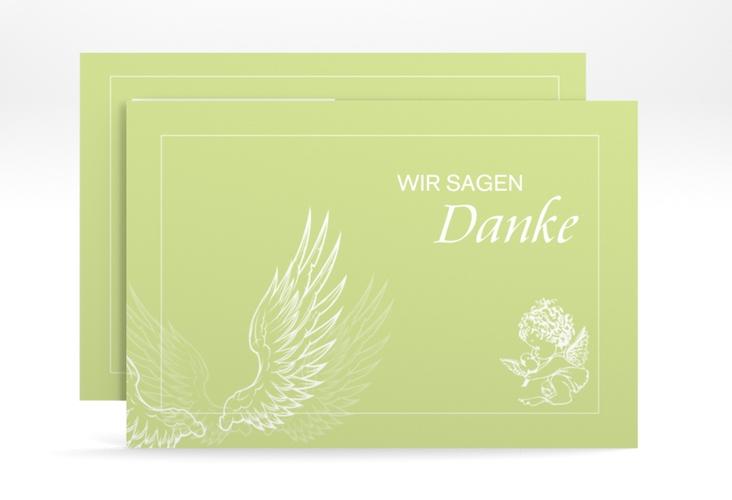 "Dankeskarte Taufe ""Angel"" A6 quer"