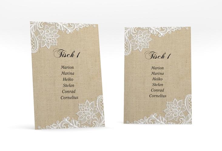 """Tischaufsteller Hochzeit """"Lace"""" Tischaufsteller"""