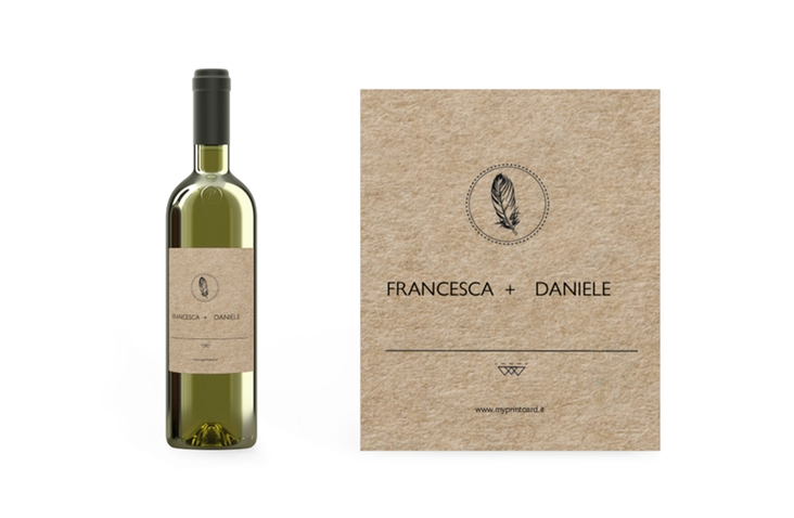 Etichette vino matrimonio collezione Colorado Etikett Weinflasche 4er Set