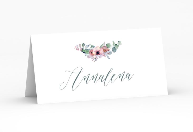 """Tischkarte Hochzeit """"Herzgold"""" Tischkarten weiss"""