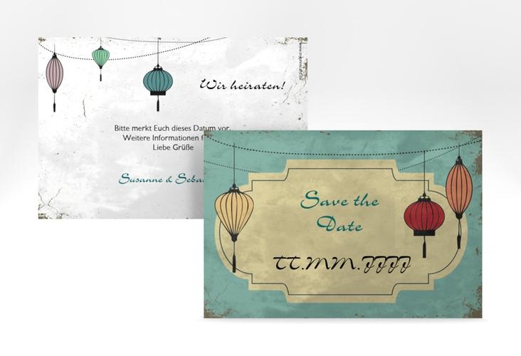 """Save the Date-Karte Hochzeit """"Turin"""" A6 quer"""