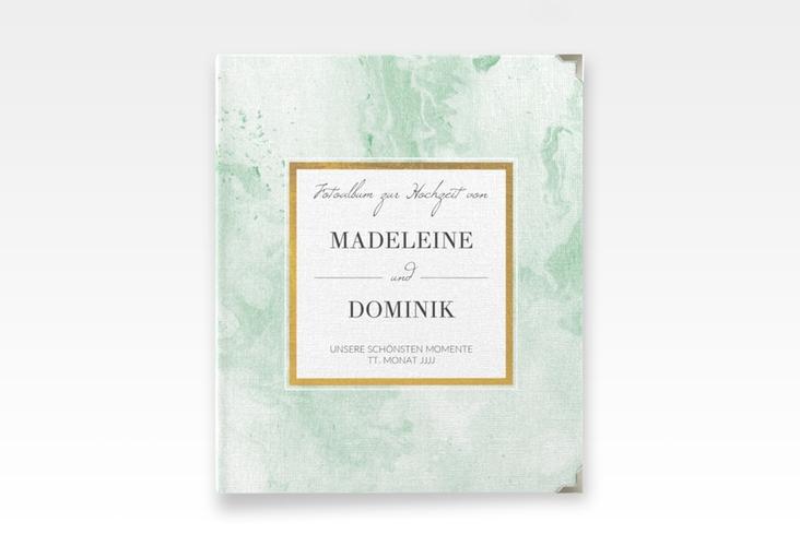 """Hochzeitsalbum """"Marble"""" 21 x 25 cm gruen"""