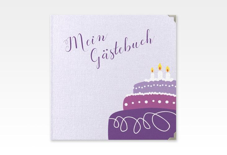 "Gästebuch Selection Geburtstag ""Cake"" Hardcover flieder"