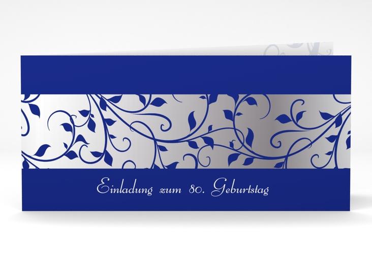 """Einladungskarte """"Hermann/Hermine"""" DIN lang Klappkarte blau"""