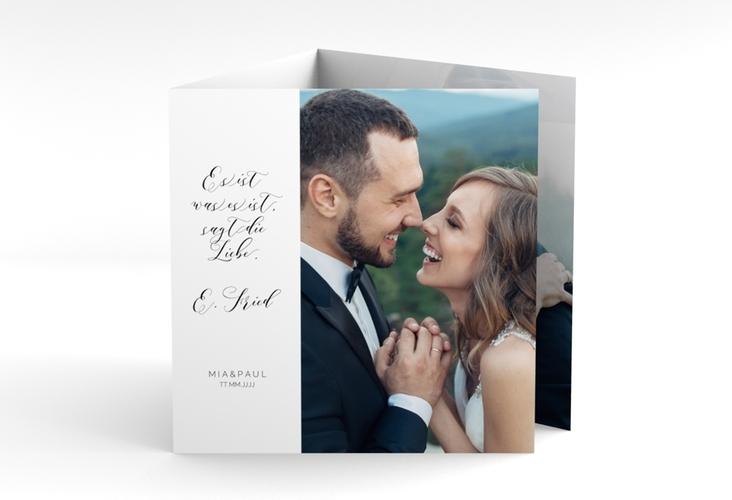 """Danksagungskarte Hochzeit """"Paperlove"""" Quadr. Karte doppelt weiss"""
