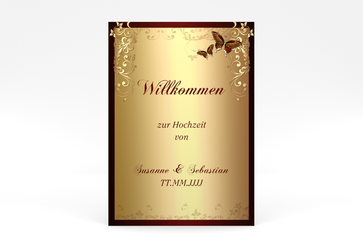 """Willkommensschild Poster """"Toulouse"""" 50 x 70 cm Poster rot"""