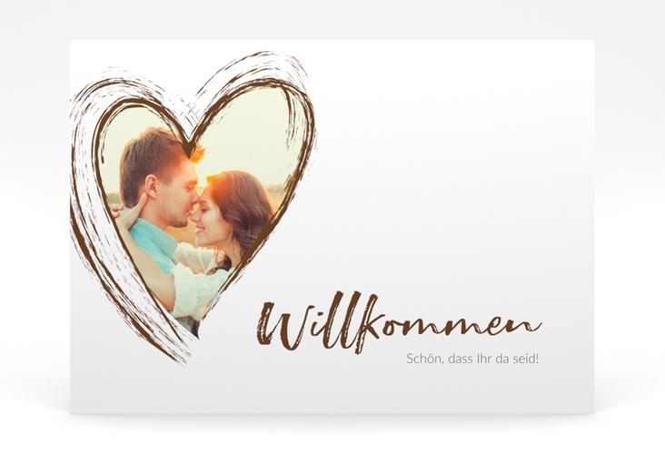 """Willkommensschild Poster """"Liebe"""" 70 x 50 cm Poster braun"""