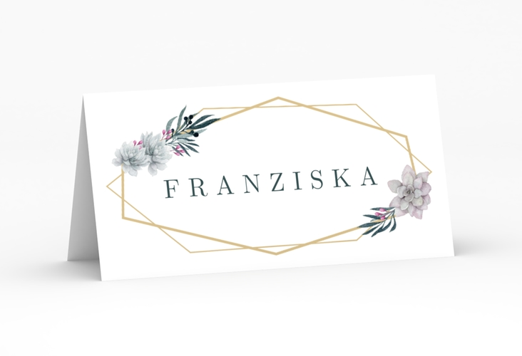 """Tischkarte Hochzeit """"Terrarium"""" Tischkarten weiss"""