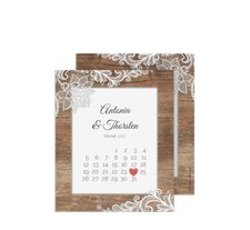 "Save the Date-Kalenderblatt ""Spitze"""