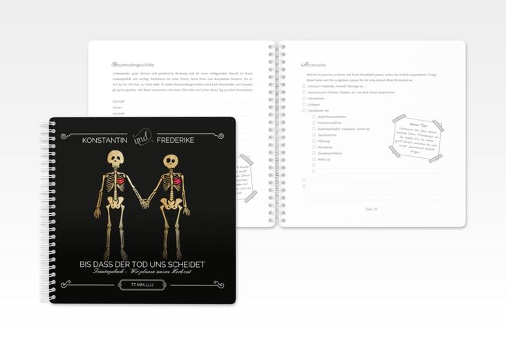 """Trautagebuch Hochzeit """"Bones"""" Trautagebuch Hochzeit schwarz"""