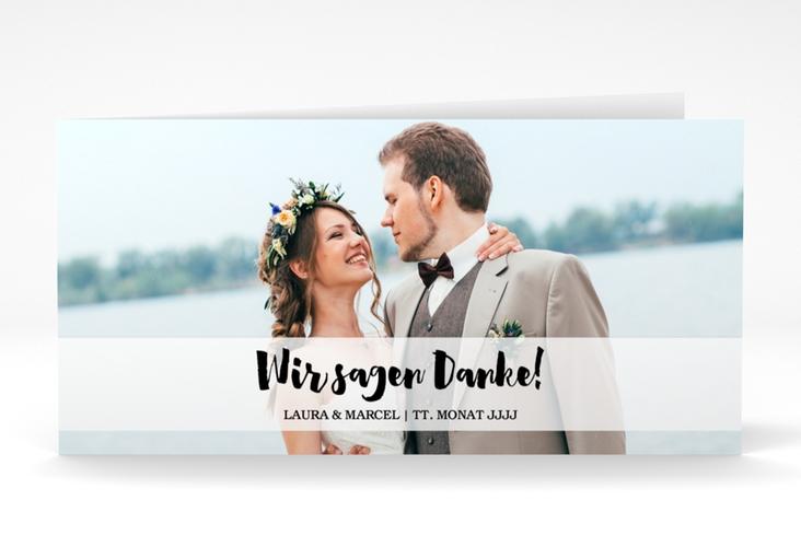 "Dankeskarte Hochzeit ""Mirage"" DIN lang Klappkarte"