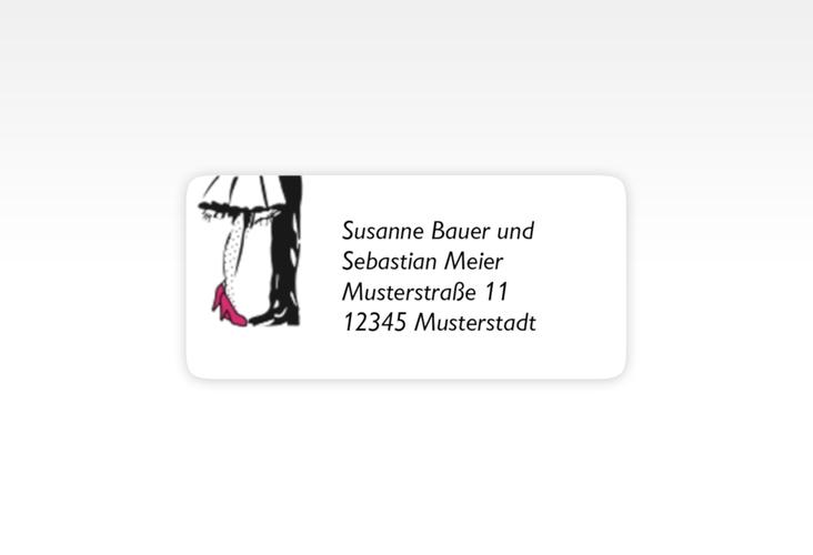 """Absenderetikett Hochzeit """"Straßburg"""" 45,7 x 21,2 mm pink"""