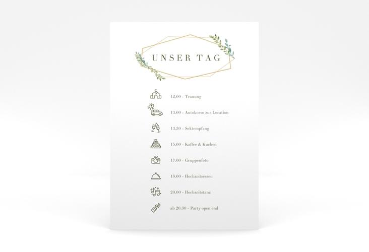 """Tagesablauf Poster Hochzeit """"Herbarium"""" 50 x 70 cm Poster"""