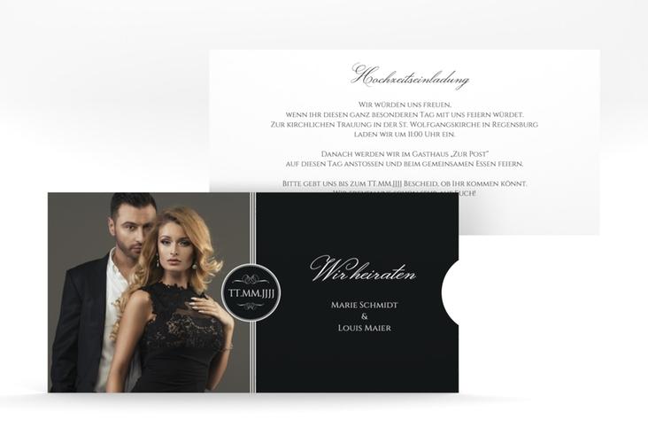 """Hochzeitseinladung """"Elegancy"""" Einsteckkarte"""