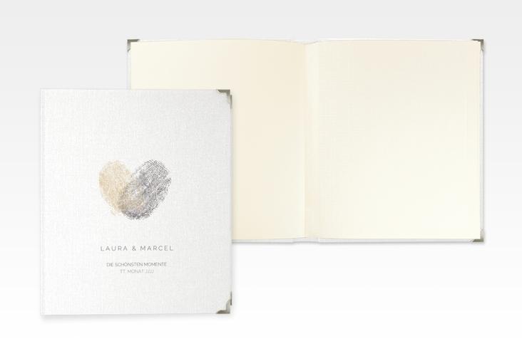 """Hochzeitsalbum """"Fingerprint"""" 21 x 25 cm beige"""