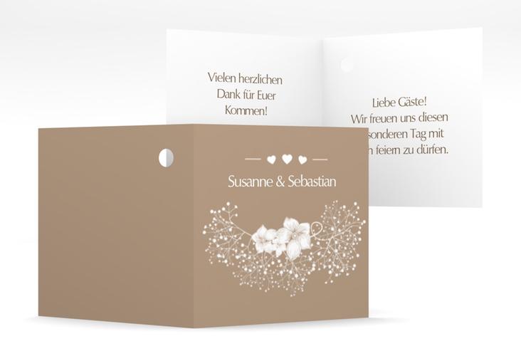 """Geschenkanhänger Hochzeit """"Jena"""" Geschenkanhänger 10er Set braun"""