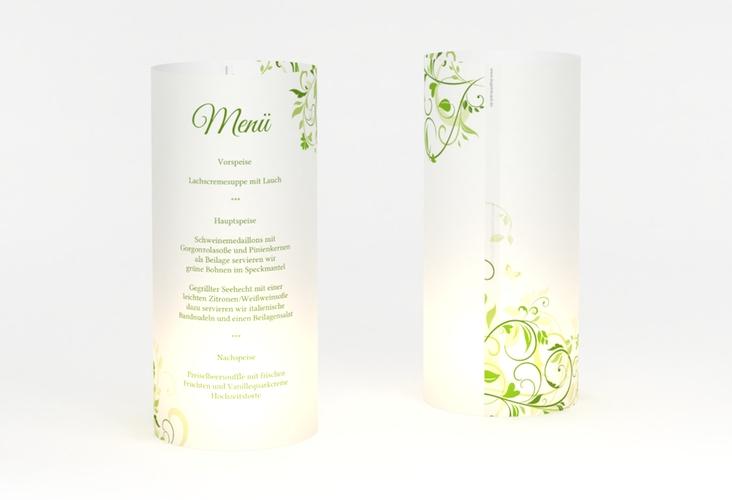 """Windlicht Menü Hochzeit """"Lilly"""" Windlicht gruen"""