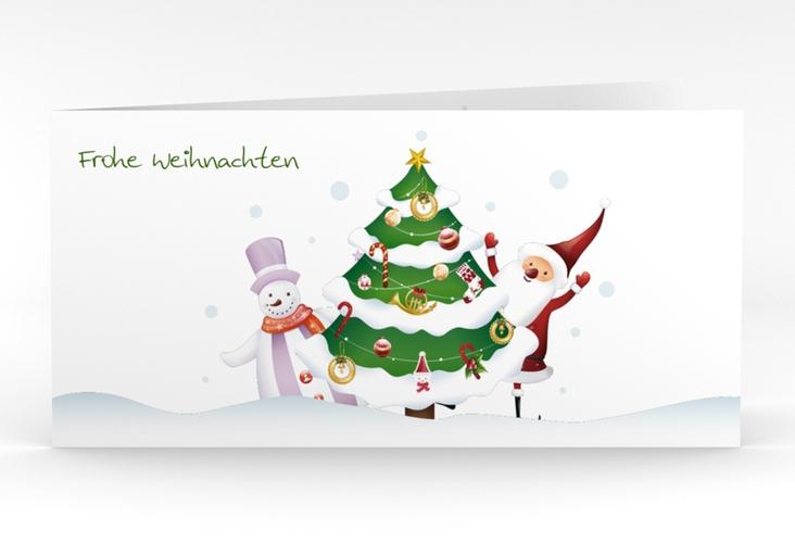 """Weihnachtskarte """"Schneetreiben"""" DIN lang Klappkarte"""