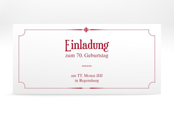 "Einladungskarte ""Helmut/Helmine"" DIN lang rot"