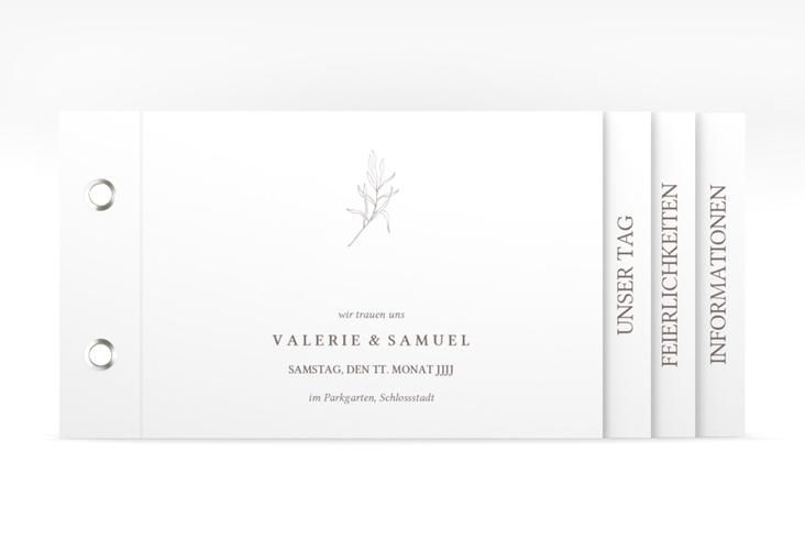 """Hochzeitseinladung """"Ivy"""" Booklet weiss"""