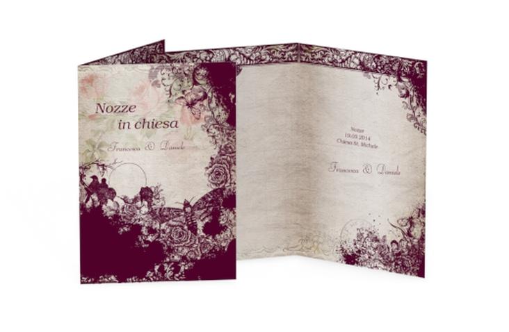 Libro messa matrimonio collezione Bordeaux DIN A5 geklappt