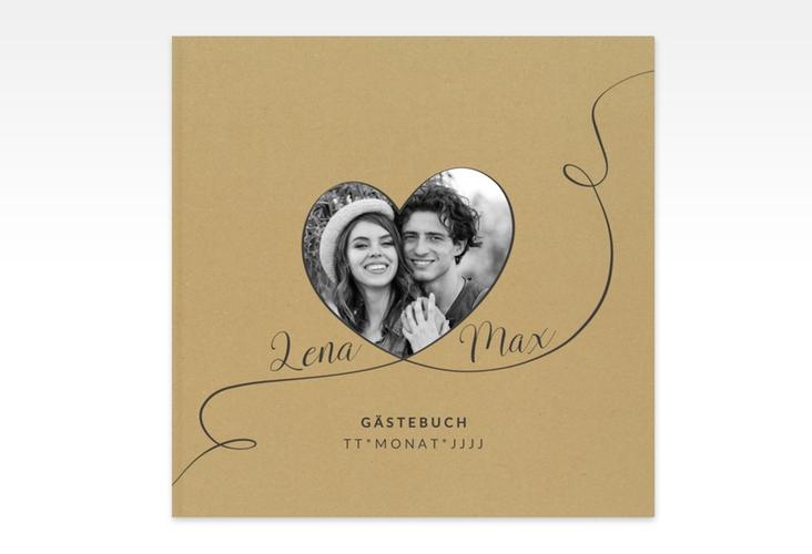 """Gästebuch Creation Hochzeit """"Herzensbund"""" 20 x 20 cm, Hardcover schwarz"""