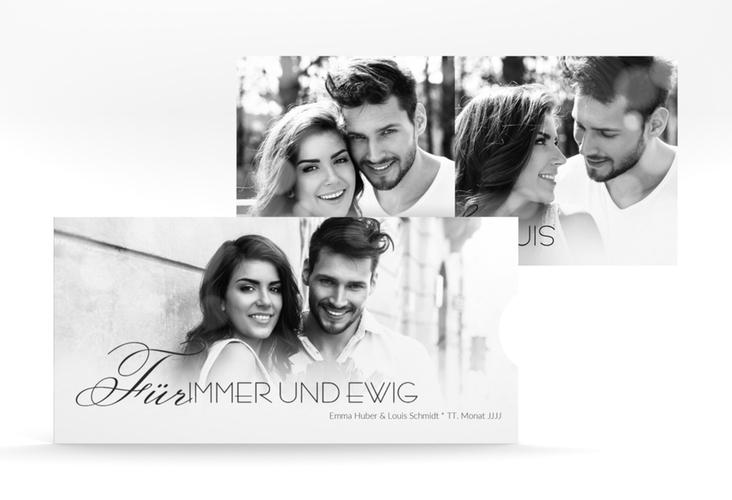 """Hochzeitseinladung """"Bokeh"""" Einsteckkarte weiss"""