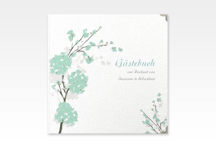 """Gästebuch Selection Hochzeit """"Salerno"""" Leinen-Hardcover mint"""