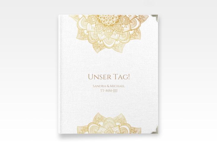 """Hochzeitsalbum """"Delight"""" 21 x 25 cm gold"""