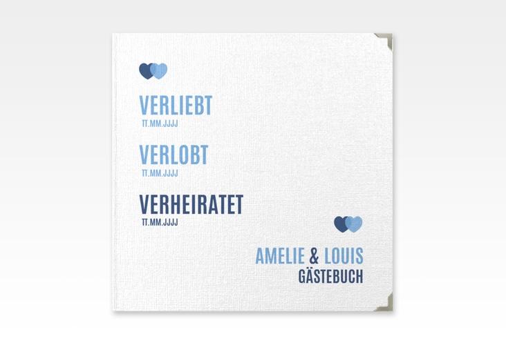 "Gästebuch Selection Hochzeit ""Couple"" Leinen-Hardcover blau"