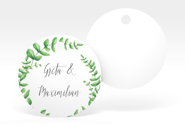 """Geschenkanhänger Hochzeit """"Botanic"""" Geschenkanhänger, rund"""
