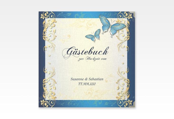 "Gästebuch Selection Hochzeit ""Toulouse"" Leinen-Hardcover blau"