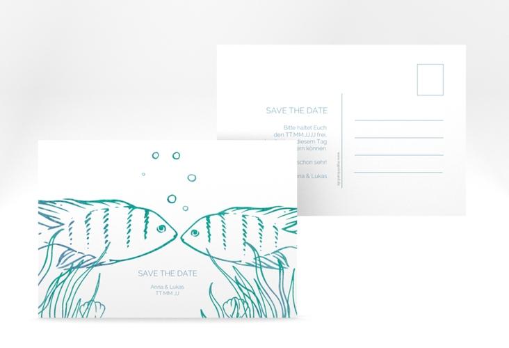 "Save the Date-Postkarte ""Ocean"" A6 Postkarte"