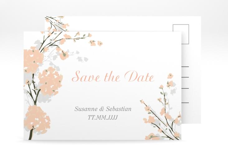 """Save the Date-Postkarte """"Salerno"""" A6 Postkarte apricot"""